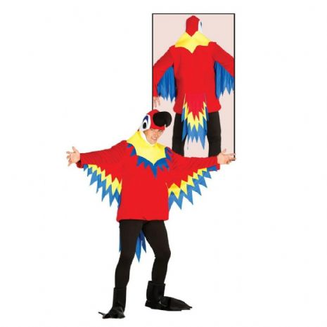 Adult Mens Ladies Parrot Jumpsuit Costume for Animals Tropical Brid Fancy Dress